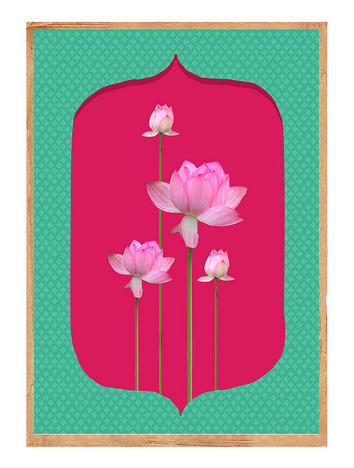 Mughal Lotus Art Print on Paper