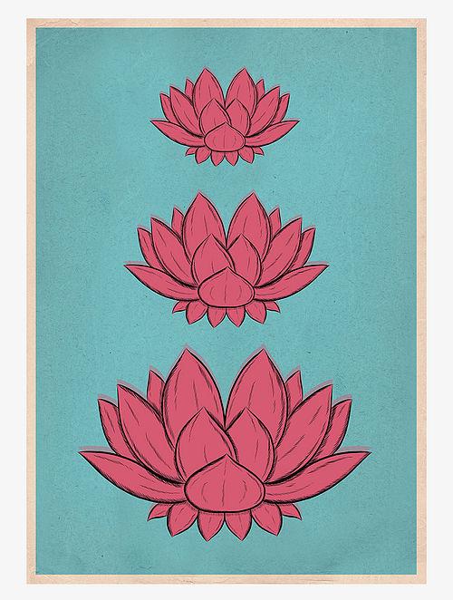 Lotus Pichwai Art Print On Paper