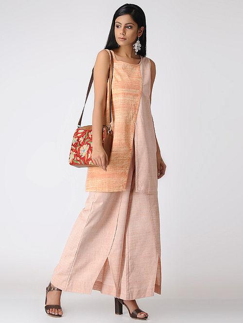 5710070f7cc87 Buy Brown-Orange Handwoven Cotton Khadi Tunic Online at Jaypore ...