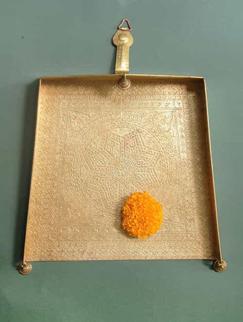 Handcrafted Brass Kutch ki Gaatha (L:24cm, W:26cm)