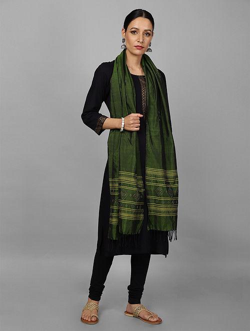 Green Tangalia Silk Dupatta