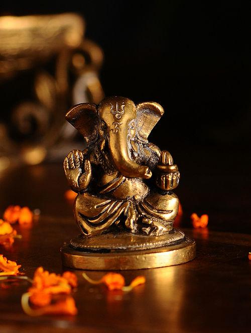 Brass Ganesh (L- 1.7in, W- 1.7in, H- 2.5in)