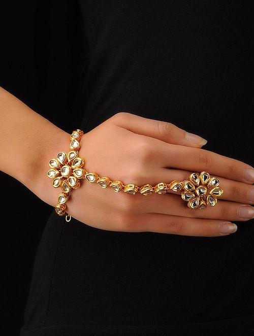 Classic Floral Hand Bracelet