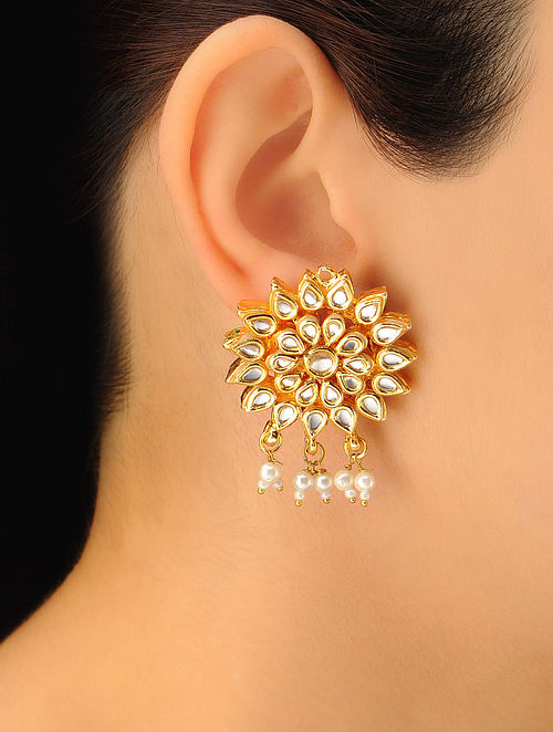 Pair of Classic Floral Earrings