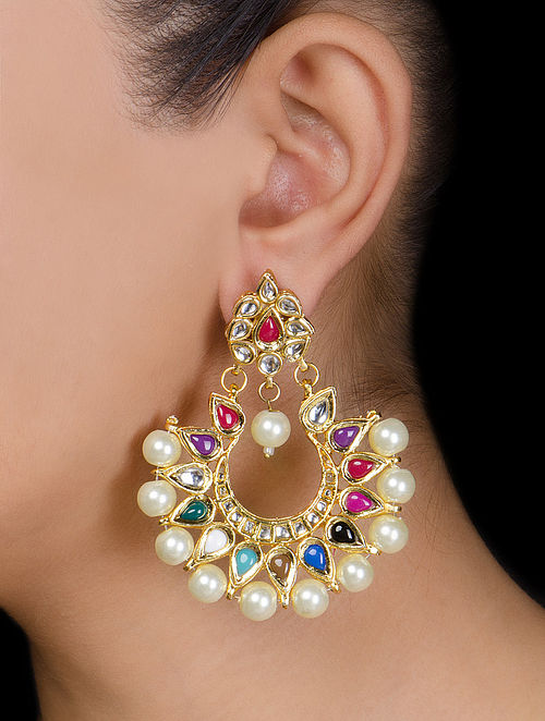 Half-moon Kundan Earrings
