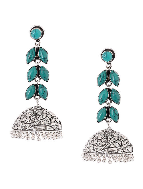 Classic Turquoise Jhumkis
