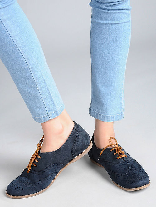Blue Handcrafted Shoes