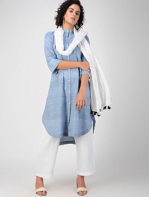 43166923ccc9f Buy Blue Button-down Khadi Cotton Kurta Online at Jaypore.com