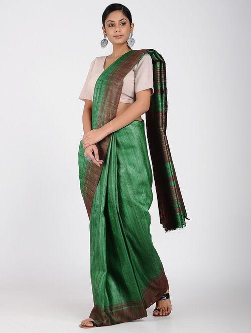 52b9154cf2ebbd Buy Green-Red Ghicha Silk Saree Online at Jaypore.com