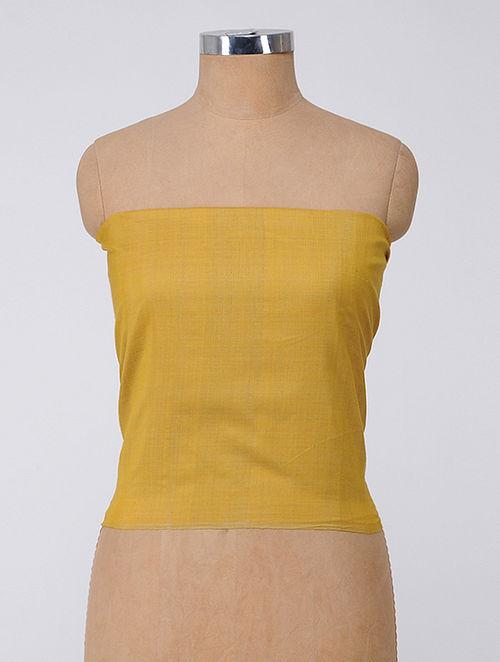 Mustard Handloom Cotton Fabric