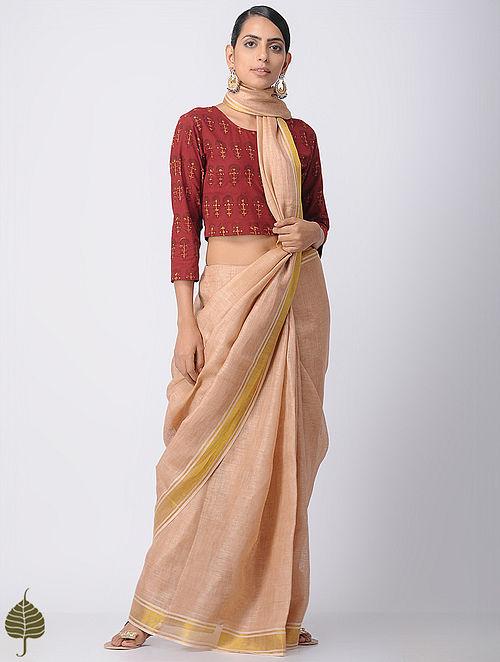 Madder Ajrakh Cotton Blouse by Jaypore