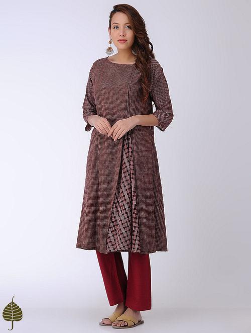 Black-Madder Bagh-printed Cotton Kurta by Jaypore