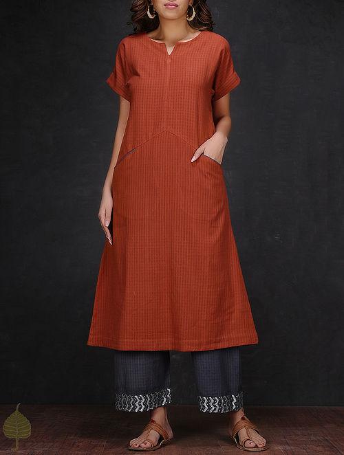 Madder Cotton Kurta with Pockets by Jaypore