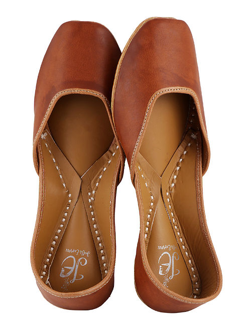Tan Handcrafted Juttis