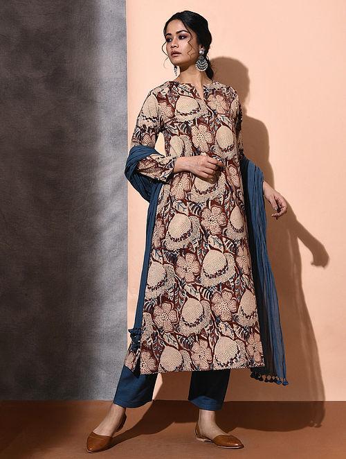 Multicolor Kalamkari-printed Cotton Kurta