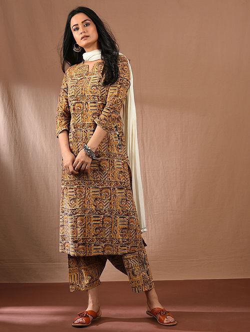 HAASITA - Multicolored Block Printed Kalamkari Cotton Kurta