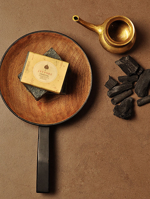 Charcoal Hand-Made Soap by Jaypore - 125 gms