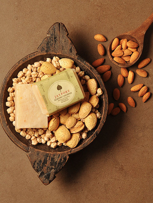 Almond Chickpea Hand-Made Soap by Jaypore - 125 gms