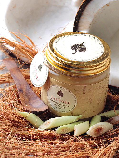 Lemongrass Coconut Body Scrub by Jaypore - 100 gms