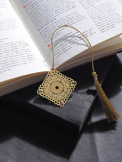 Kite Gold Plated Brass Bookmark