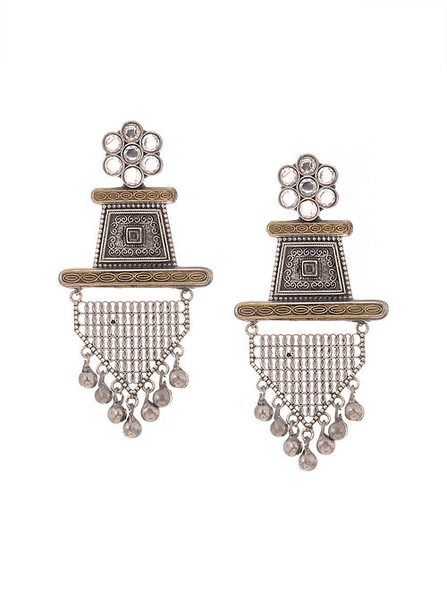 Classic Dual Tone Handcrafted Earrings