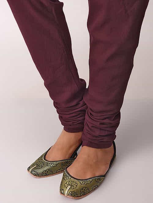 Madder Elasticated-waist Cotton Churidar by Jaypore