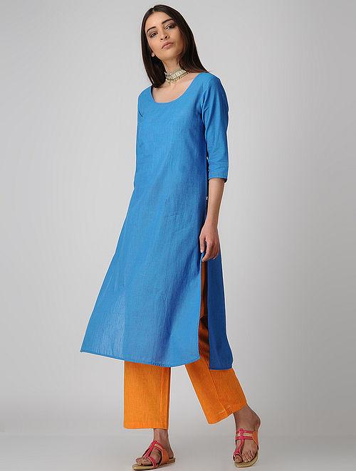 Blue Cotton Kurta