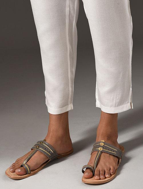 White Elasticated Waist Modal Pants