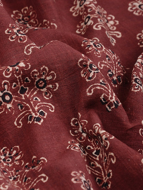 0dad67b97c3 Buy Red-Ivory Ajrakh-printed Cotton Fabric Online at Jaypore.com