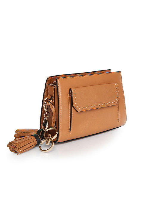 Brown Handcrafted Genuine Leather Waist Bag