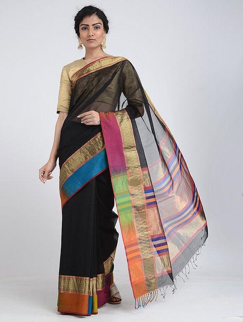 282a097bd09c8d Buy Multicolored Ikat Silk Cotton Saree with Zari Online at Jaypore.com