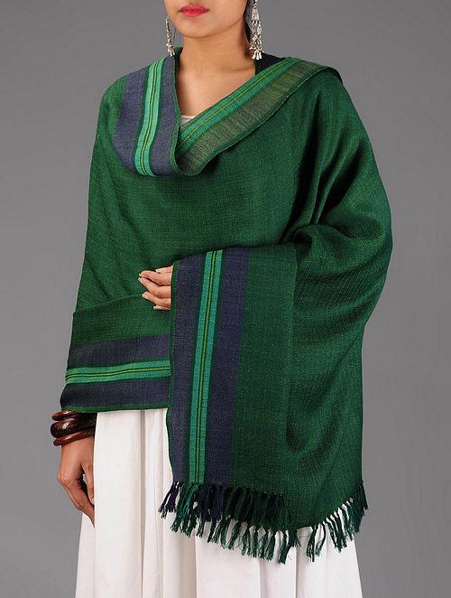 Green-Blue Wool Shawl