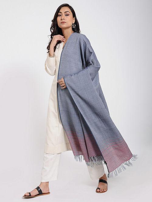 Grey Merino Wool Shawl