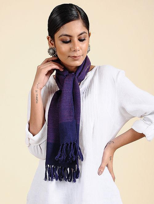Purple Handwoven Merino Wool Scarf