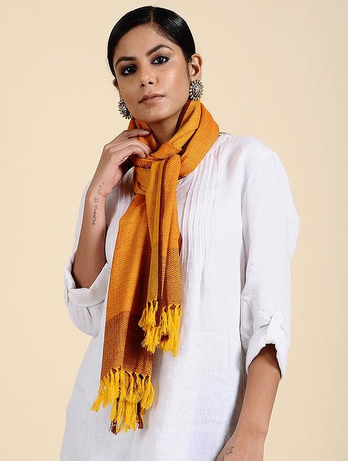 Yellow Handwoven Merino Wool Stole