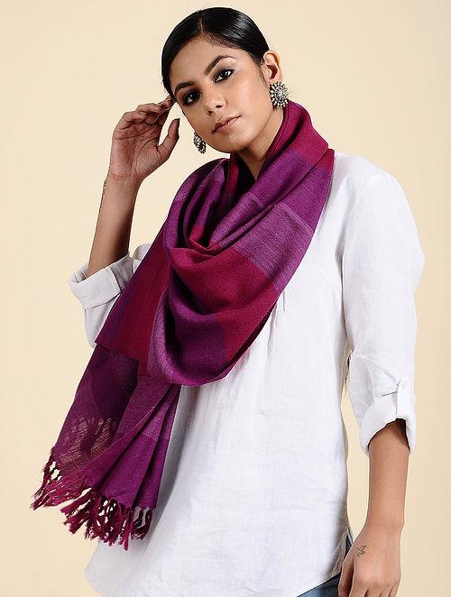 Purple Handwoven Merino Wool Stole