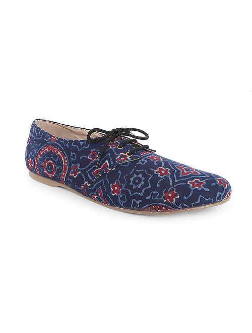 Blue Handcrafted Oxford Shoes