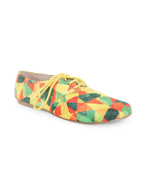 Multicolored Handcrafted Oxford Shoes