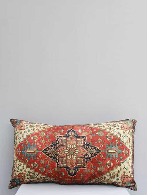 Taapi Multicolored Handmade Velvet Cushion Cover (12in x 20in)