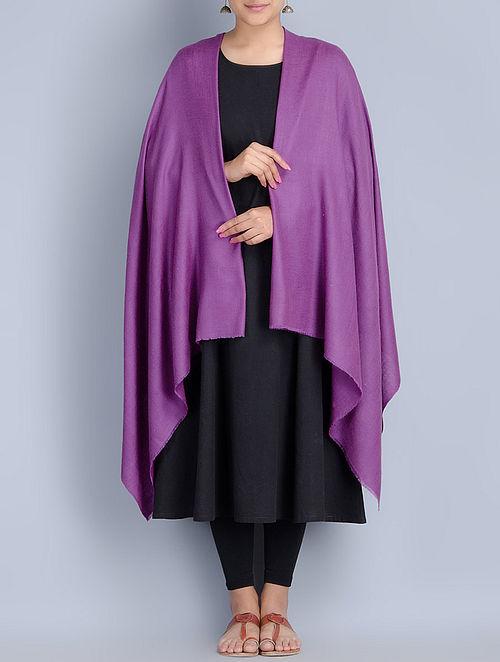 Purple Pashmina Handwoven Shawl by Pashme Ladakh