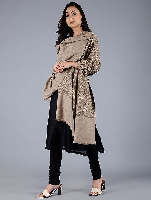 Beige Pashmina Pelt shawl