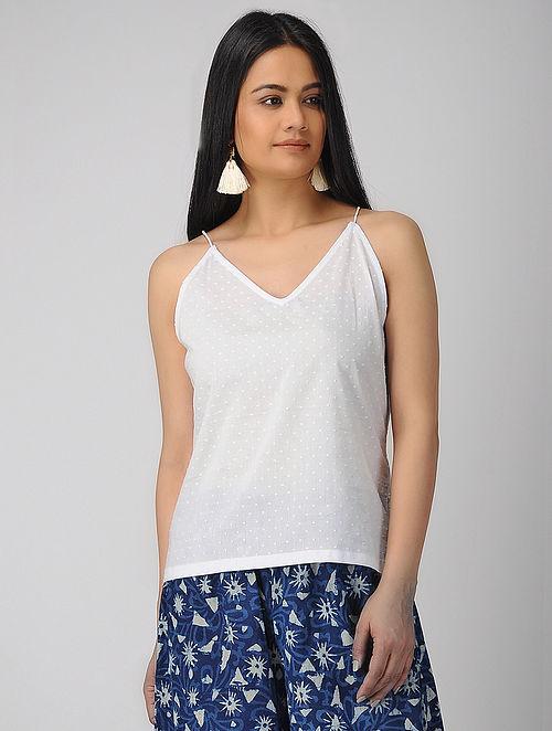 0eaf83a0532671 Buy White Cotton Top Online at Jaypore.com