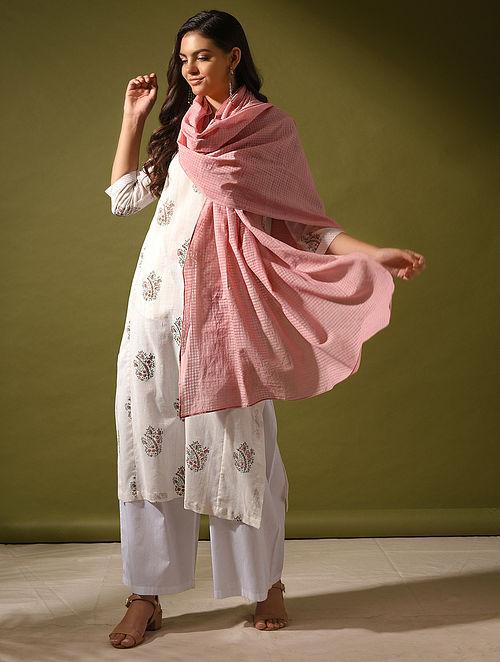 UPVAN - Pink Handloom Cotton Dupatta
