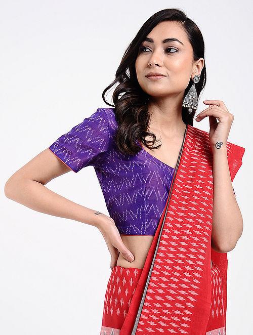 31b3eb05413 Buy Purple Handloom Silk-Cotton Ikat Blouse Online at Jaypore.com