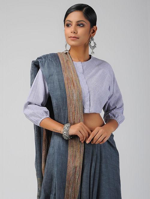 Blue Handloom Cotton Blouse