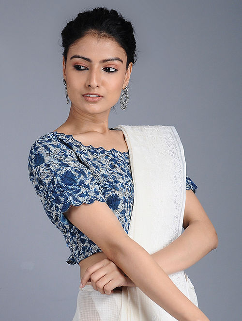 d68653b13772e Buy Indigo Dabu-printed Cotton Blouse Online at Jaypore.com