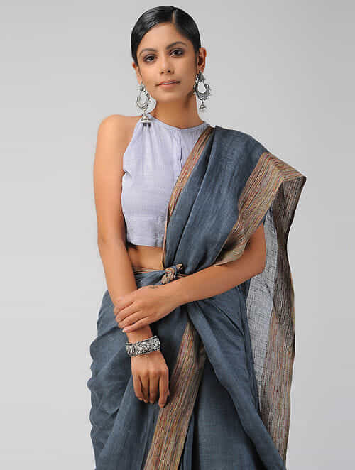 Blue Handloom Cotton Blouse