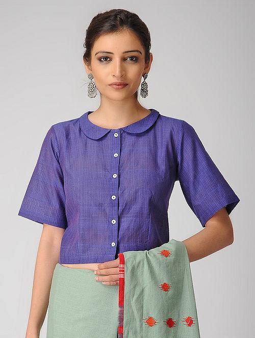 e6e1bb804a818b Buy Purple Handloom Cotton Blouse Online at Jaypore.com
