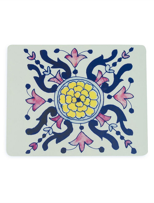 Blue Pottery Square Mouse Pad by Designwalla 8.2in x 6.6in