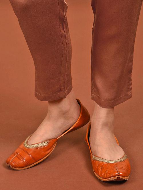 Orange Elasticated Waist Modal Pants